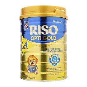 NutiFood RISO OPTI GOLD 4 Lon 900g Cho Trẻ Từ 2 Tuổi Trở Lên