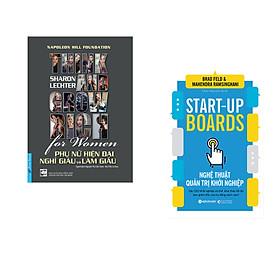 Combo 2 cuốn sách: Phụ Nữ Hiện Đại Nghĩ Giàu Và Làm Giàu + Nghệ thuật quản trị khởi nghiệp
