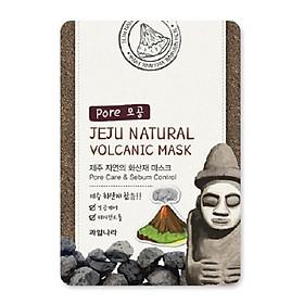 Mặt nạ dưỡng da than hoạt tính (combo 10 miếng) Hàn Quốc Welcos jeju natural volcanic mask 20ml