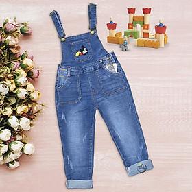 Quần yếm jean dài cho bé gái size đại
