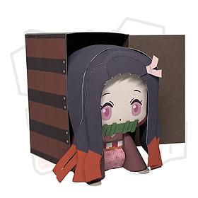 Mô hình giấy Anime Chibi Kamado Nezuko ver 4 - Demon Slayer  (Kimetsu no Yaiba)
