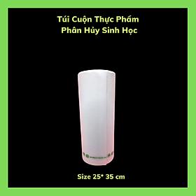 Sét 2 Kí Túi Ni Lông Đựng Thực Phẩm - Phân Hủy Sinh Học - Dạng Cuộn - Màu Trắng Sữa - 4 size /Set  2 Kilograms Of Bio-Degradable Nylon Food Bags - In Roll - Color Milky White - 4 Sizes