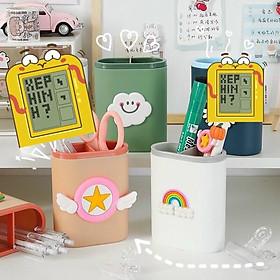 Hộp đựng bút, ống cắm bút nhiều hình dễ thương, hộp đựng bút để bàn phong cách