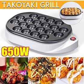 220V 600W 20 Hole Electric Takoyaki Grill Pan Home Household Octopus Meat Ball Maker Plate Breakfast