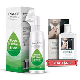 Cọ Massage Rửa Mặt Sáng Da Collagen+ Thải Độc Tố Kiềm Dầu 120ml cho Nam TẶNG Gel Vệ Sinh Vùng Kín Nam 100ml LANGCE