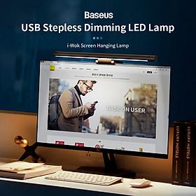 Baseus Screen Hanging Lamp Computer Monitor Screen Hanging Lamp Office LED Desk Lamp USB Stepless Dimming LED Lamp Black
