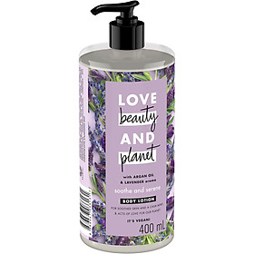 Sữa Dưỡng Thể Dưỡng Ẩm Love Beauty And Planet Soothe & Serene 400ml