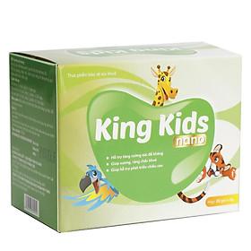 Combo 2 Hộp Cốm Canxi KING KIDS NANO giúp hỗ trợ phát triển chiều cao và giảm nguy cơ còi xương cho bé yêu