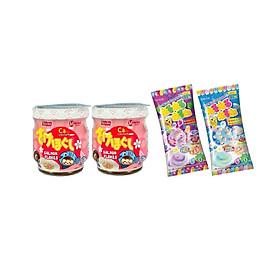 Combo 2 lọ ruốc cá hồi Meiwa ít muối - tặng kẹo popin cookin vị soda + vị grape