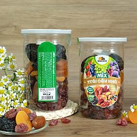 Mix Trái Cây Khô Smile Nuts (275g - 500g) | Gồm Chà Là từ Tunisia, Mận Khô và Nho Khô Đỏ từ Chile, Mơ Sấy từ Thổ Nhĩ Kỳ) - Mixed Dried Fruits (Dates, Prunes, Red Raisins and Apricots)