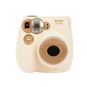 Máy Chụp Ảnh Lấy Liền Tự Động Lấy Nét Fujifilm Instax Mini7C Kèm Dây Đeo - Màu Nâu Nhạt