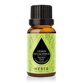 Tinh Dầu Bạch Đàn Chanh Lemon Eucalyptus Essential Oil Heber | 100% Thiên Nhiên Nguyên Chất Cao Cấp | Nhập Khẩu Từ Ấn Độ | Kiểm Nghiệm Quatest 3 | Xông Thơm Phòng | Hương Dịu Nhẹ