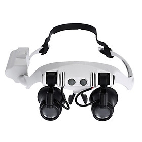 Professional Magnifying Glasses Magnifier Glasses with LED Light Headband Magnifier with 4 Pair Replaceable Lenses for