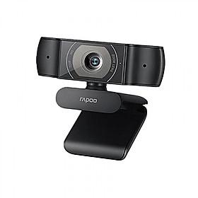 Webcam Usb tích hợp  micro Rapoo c200 ống kính hỗn hợp độ phân giải HD 720P 25737 Hàng chính hãng