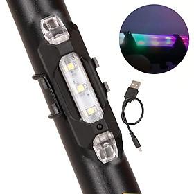 Đèn Hậu Cảnh Báo Gắn Phía Sau Nhiều Màu Sạc Điện USB Nhiều Chế Độ Chống Nước Giúp Đạp Xe An Toàn Ban Đêm Mai Lee