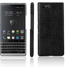 Ốp Lưng Cho Blackberry Key2 Vân Cá Sấu Màu Đen