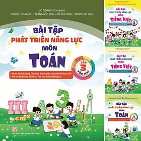 Combo 4 Cuốn Bài Tập Phát Triển Năng Lực Học Sinh Môn Toán và Tiếng Việt Lớp 3 Tập 1 + Tập 2