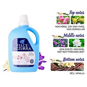 Nước xả vải hương nước hoa Ý cho da nhạy cảm Felce Azzurra Sweet Cuddles 3L