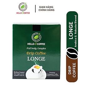 CÀ PHÊ PHIN GIẤY LONGE 12 GAM X 10 GÓI / HỘP- HELLO 5 COFFEE