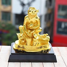 Linh vật Khỉ phong thủy mạ vàng