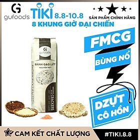 Bánh gạo lứt nguyên hạt GUfoods - Vị Đường ăn kiêng - Vị ngọt dễ ăn - Tập gym, Giảm cân, Eat clean