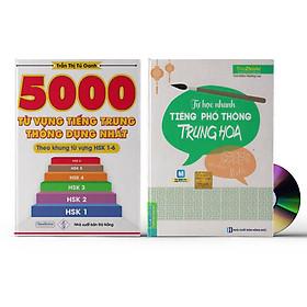 Sách- Combo 2 sách 5000 từ vựng tiếng Trung thông dụng nhất theo khung HSK từ HSK1 đến HSK6+Tự Học Nhanh Tiếng Phổ Thông Trung Hoa (Có Hướng Dẫn Phần Mềm APP Để Luyện Nghe)+ DVD tài liệu