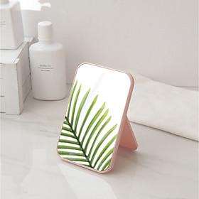 Gương trang điểm hình chữ nhật để bàn bằng nhựa bền đẹp - Màu ngẫu nhiên
