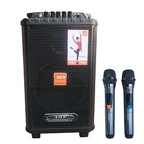 Loa Kéo Di động JBZ 0811 có 2 mic không dây xịn, gỗ bass 20cm - Hàng Nhập Khẩu