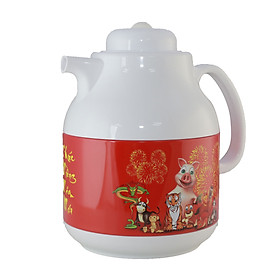 Phích pha trà cao cấp Rạng Đông, 1 lít, giữ nhiệt, thân sắt, vai nhựa, Model: RD-1055TS- Chính hãng