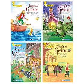 Bộ Sách Truyện Cổ Grimm - Truyện Song Ngữ Anh - Việt (Bộ 4 Cuốn)