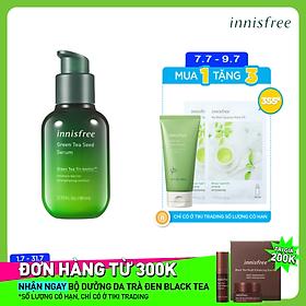 Tinh chất dưỡng ẩm cô đặc từ trà xanh và dầu hạt trà xanh tươi Jeju Innisfree The Green Tea Seed Serum 80ml - NEW