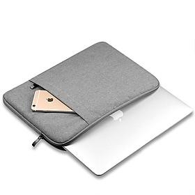 Túi đựng Macbook Air, Pro cao cấp 13inch Chống Sốc 2 Ngăn sang trọng (ghi xám) PKV - Hàng chính hãng