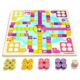 Tebow (topbright) happy flying chess children's toys kids girls boys wooden educational toys
