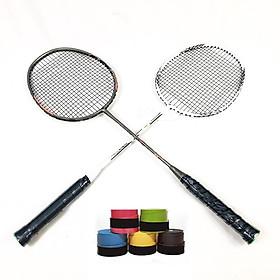 Bộ 2 vợt cầu lông cao cấp tặng kèm 2 cuộn quấn cán vợtgng( màu vợt và quấn cán ngâu nhiên )