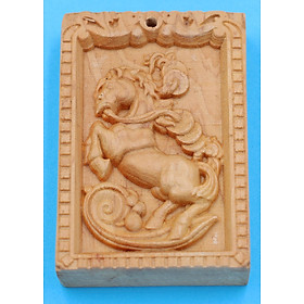 Hình đại diện sản phẩm Mặt gỗ hoàng đàn - 12 con giáp - khắc hình tuổi Ngọ MGCG5
