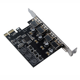 Four Ports USB 3.0 Super Fast 5Gbps PCI-E Expansion Card PCI Express Adapter Converter Card 6A Power Supply Module For