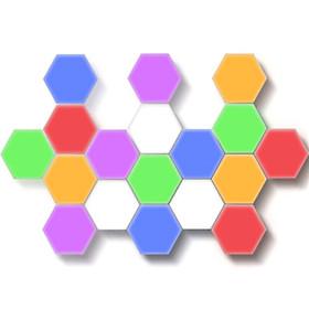 6Pcs LED 100-240V Fashion Colorful Hexagonal Lamp Modular Touch Sensitive Night Light for Wall Decor