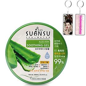 Gel dưỡng da Lô Hội Enesti Suansu Aloe Hàn Quốc 300ml + Tặng móc khoá