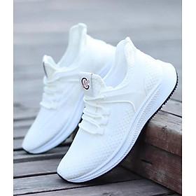 Giày Snearker Thể Thao Nam Vải Dệt Thoáng Khí GTTN-64 [Màu Trắng]