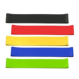 5 Pcs Resistance Loop Bands, Resistance Exercise Bands for Stretching, Strength Training, Physical Therapy, Natural