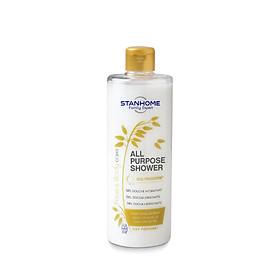 Sữa tắm, rửa mặt không xà phòng hương yến mạch cho da thường, hỗn hợp, dầu mụn, nhạy cảm Stanhome ALL PURPOSE SHOWER OAT 400ml