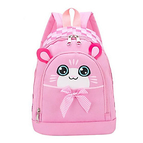 Balo cho trẻ in hình mèo con nghịch ngợm đáng yêu thời trang Tặng combo 4 món-0