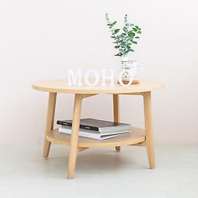 Bàn Sofa - Bàn Cafe - Bàn Trà Tròn Gỗ Sồi MOHO OSLO 901