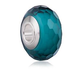 Hình đại diện sản phẩm Hạt charm DIY PNJSilver hình tròn dẹt màu xanh 14025.000-BO