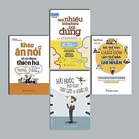 BOOKSET : Làm Chủ Nghệ Thuật Giao Tiếp (Khéo Ăn Nói + Nói Thế Nào + Hài Hước Một Chút + Nói Nhiều Không Bằng) - Tặng ngẫu nhiên một cuốn sổ bìa mềm