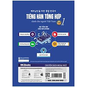 Sách Giáo Trình Tiếng Hàn tổng hợp dành cho người Việt Nam - sơ cấp 1-Bản Màu-Học Kèm App Online