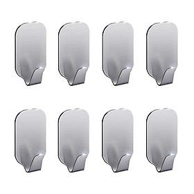 Bộ 8 móc treo đồ Inox 304 dán tường gạch men - có sẵn keo dán, không rỉ sét - HOBBY MDT3055-2