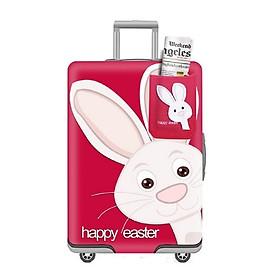 Vỏ bọc vali - Thỏ hồng
