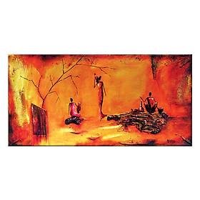 Tranh Treo Tường KHẮC HỌA NGƯỜI PHỤ NỮ GIA ĐÌNH Q6D8 - 3 (30 x 60 cm) Thế Giới Tranh Đẹp