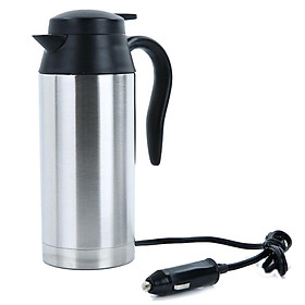 750ml 12V/24V Stainless Steel Vehicle-mounted Electric Kettle for Travel